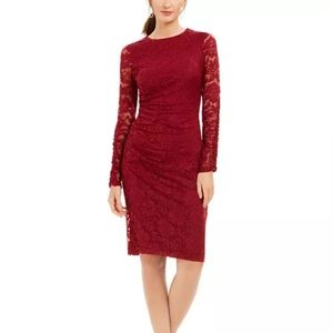 Vince Camuto Stretch Lace Bodycon Ruched Dress